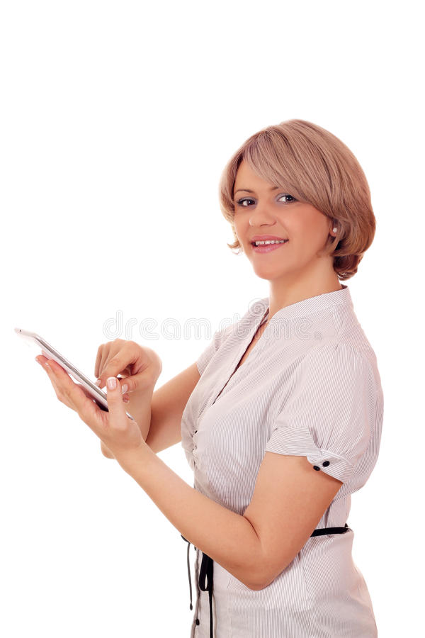 Download Woman with tablet pc stock photo. Image of female, portrait - 27939712