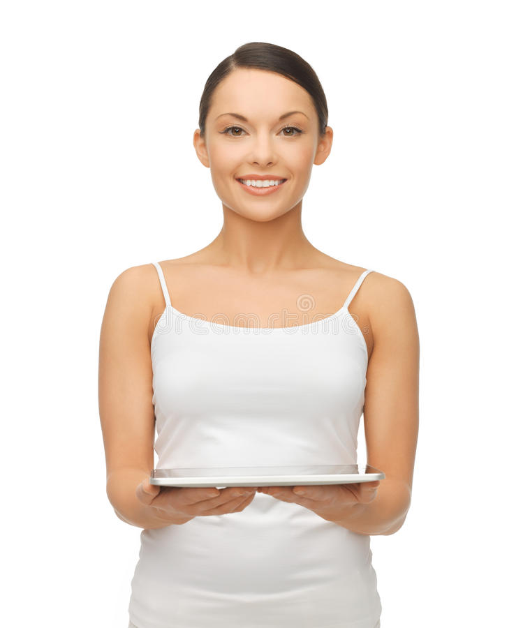 Download Woman with tablet pc stock image. Image of cheerful, healthy - 31892779