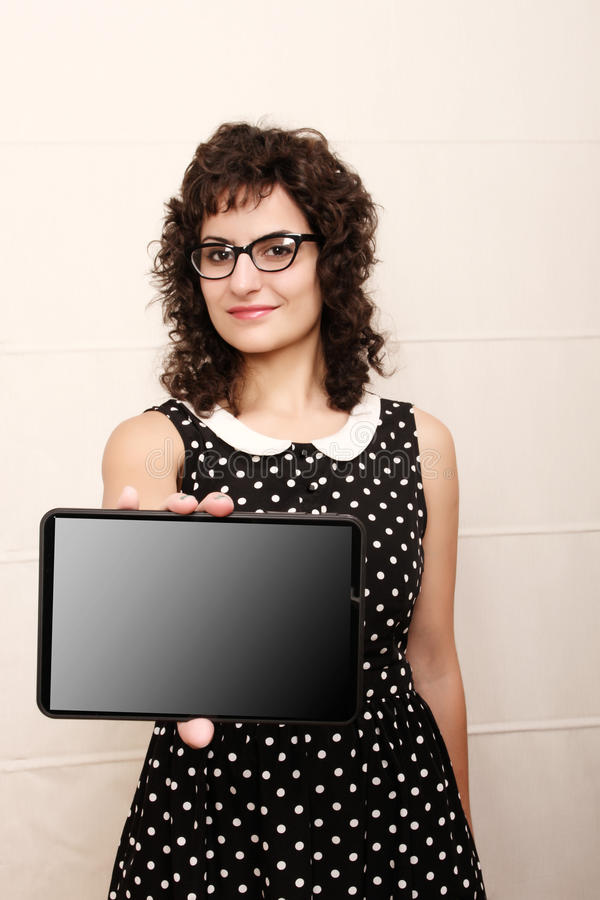 Download Woman with a Tablet PC stock photo. Image of mobile, media - 33060408