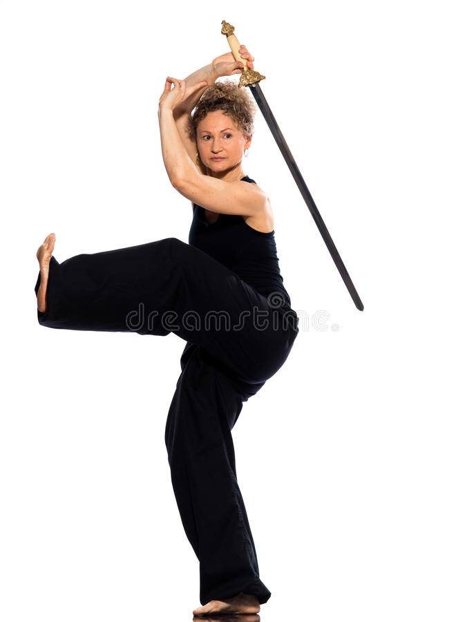 Download Woman tai chi stock image. Image of exercise, indoors - 22224931