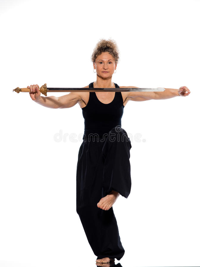 Woman Tai Chi Royalty Free Stock Photos