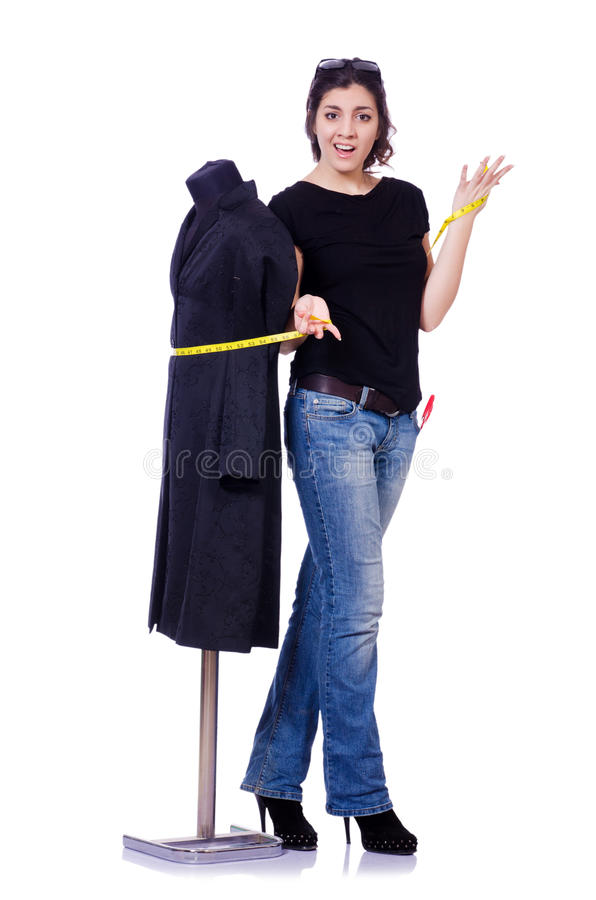 Download Woman tailor stock image. Image of centimeter, figure - 30591311