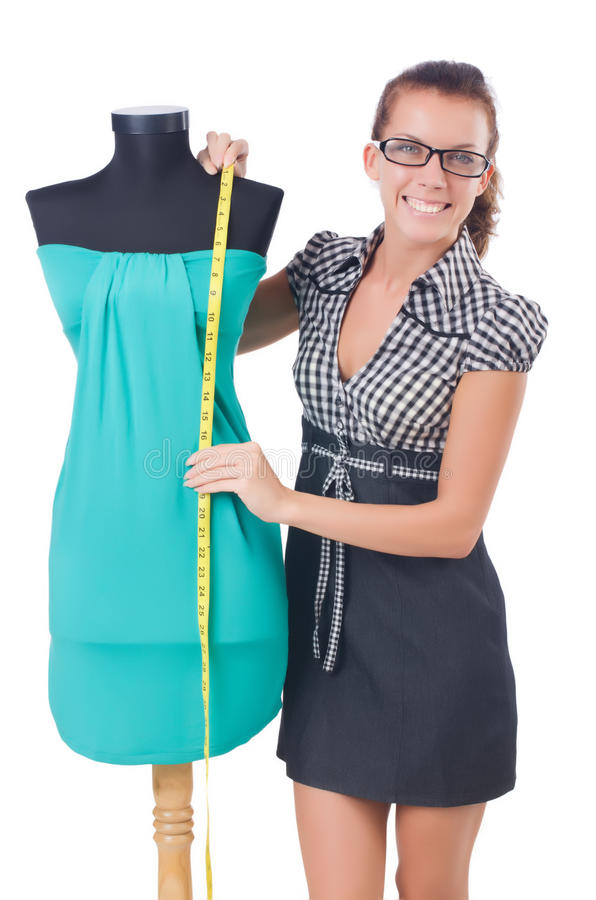 Download Woman tailor stock photo. Image of clothing, material - 34664832