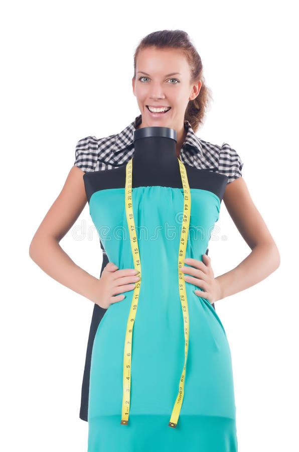 Download Woman tailor stock image. Image of material, lady, dress - 34664837