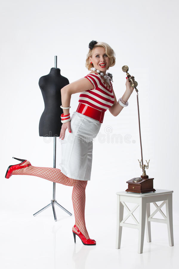 Download Woman In The Tailor's Atelier Royalty Free Stock Photos - Image: 12202378