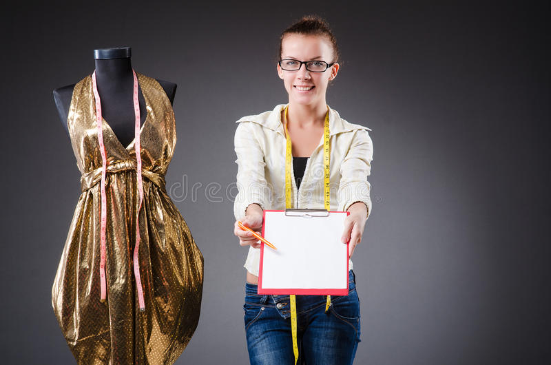 Woman Tailor Working Royalty Free Stock Image