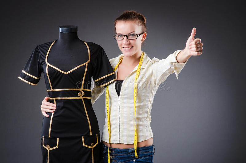 Download Woman tailor working stock image. Image of material, background - 34664995