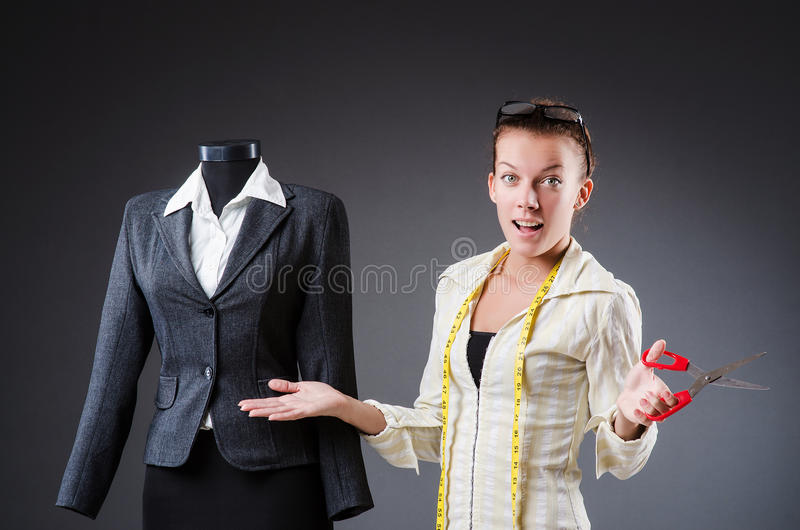 Download Woman tailor working stock photo. Image of beauty, garment - 34665002