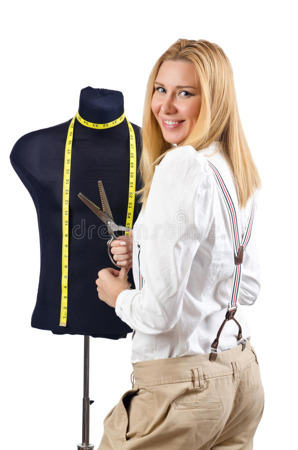 Download Woman Tailor Working On Dress Stock Image - Image: 27170865