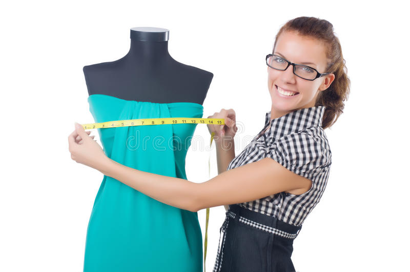 Download Woman tailor working stock image. Image of designer, dummy - 34469029