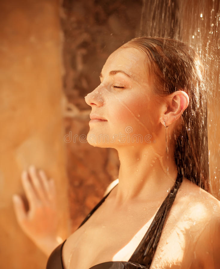 Woman Take Shower Stock Photography Image 30517292