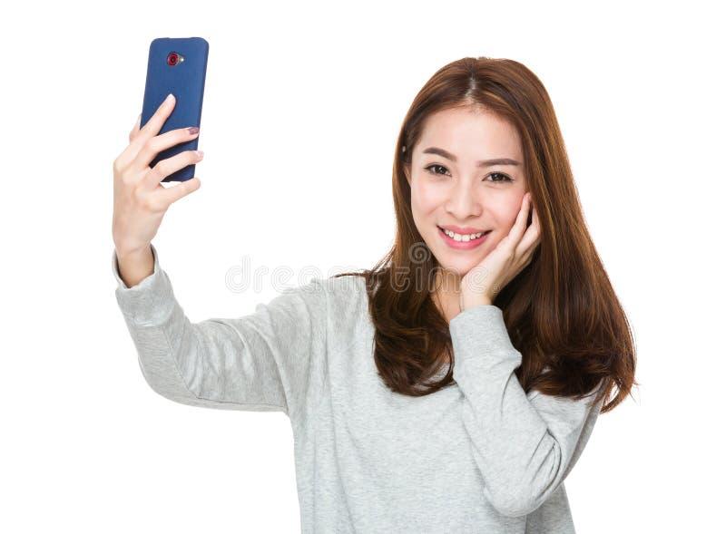 takes selfie Girl