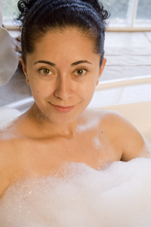 Download Woman taking bubble bath stock image. Image of relaxing - 7811983