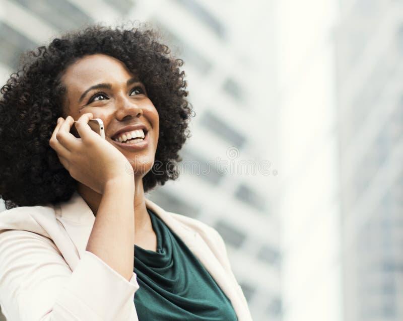 Woman Taking Phone Call royalty free stock photo