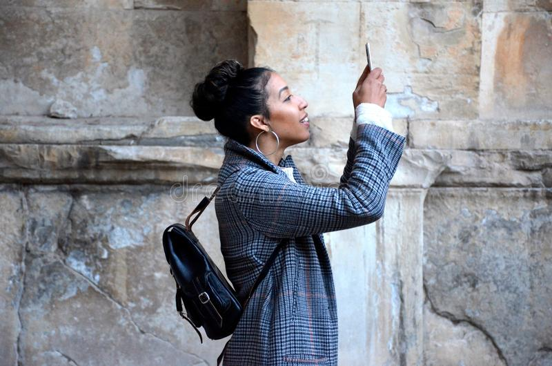 Woman Taking Photo With Smartphone Free Public Domain Cc0 Image