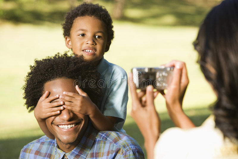 Woman taking picture. royalty free stock photography