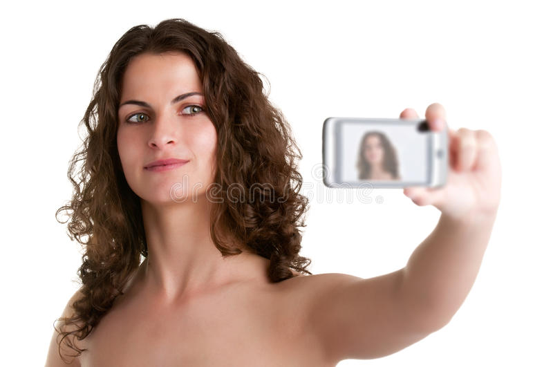 Download Woman Taking A Picture With A Cell Phone Stock Photo - Image: 30366222