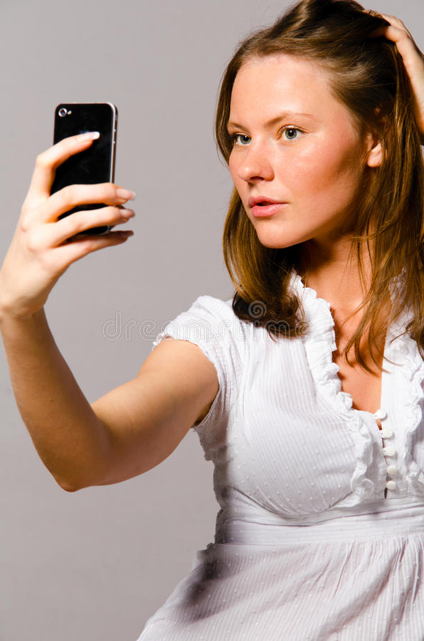 Download Woman Is Taking Picture Of Herself Stock Photo - Image: 23686148