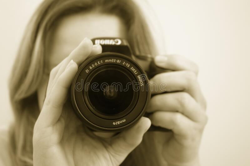 Woman Taking A Picture Using Canon Dslr Free Public Domain Cc0 Image