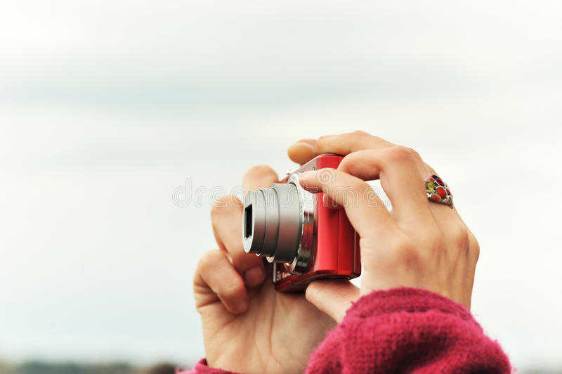 Download Woman Taking Pictures Stock Photo - Image: 22449790