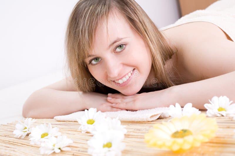 Woman taking spa treatment royalty free stock image