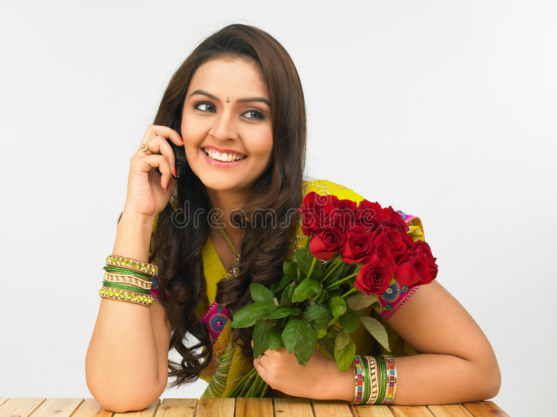 Download Woman Talking On Her Cell Phone Stock Photo - Image: 6910946