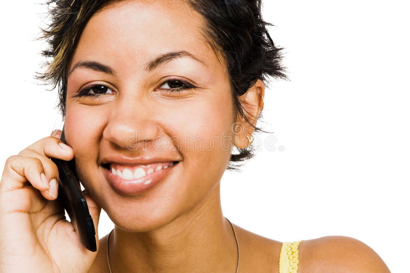 Download Woman Talking On Mobile Phone Royalty Free Stock Image - Image: 10811216