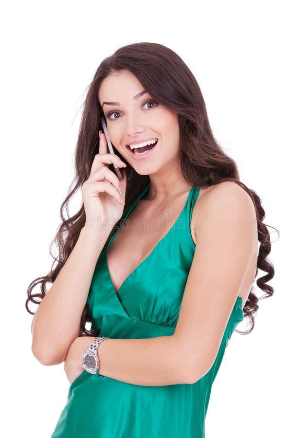 Woman talking on phone royalty free stock image