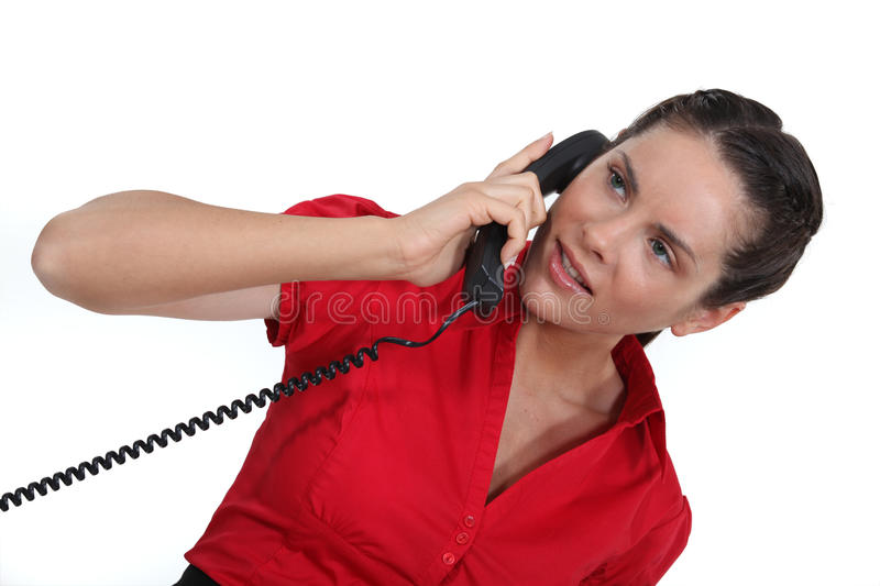 Download Woman talking on the phone stock image. Image of female - 33674967