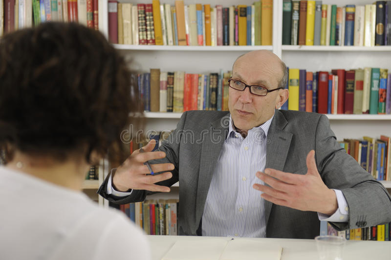 Download Woman Talking To Psychologist Or Advisor Stock Photo - Image: 24105024