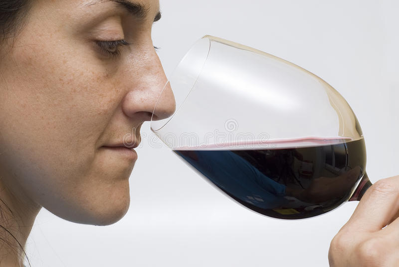 Download Woman tasting wine. stock photo. Image of bunch, life - 15692908