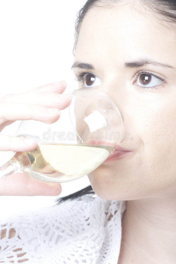 Download Woman tasting wine stock photo. Image of celebrating, beauty - 8129498