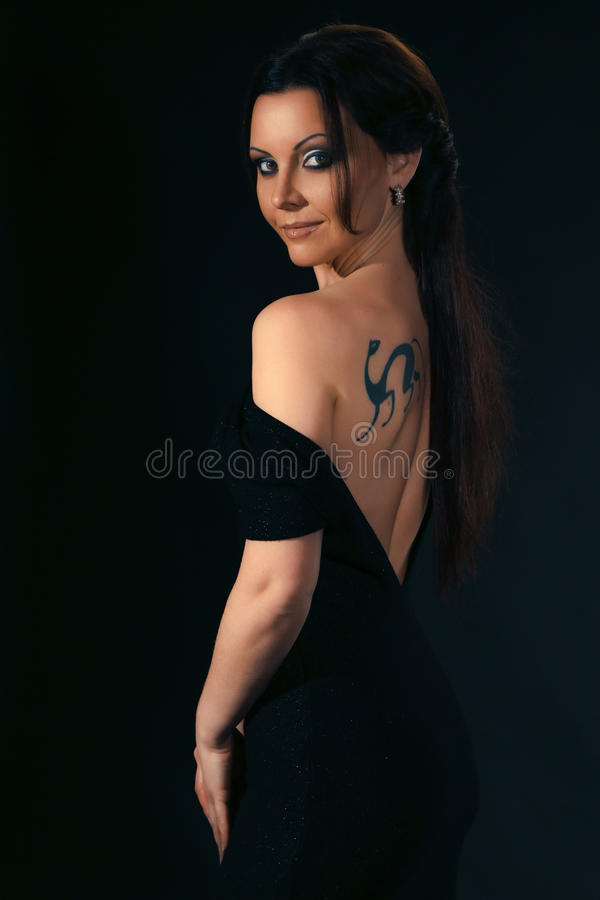 Woman with tattoo stock photography
