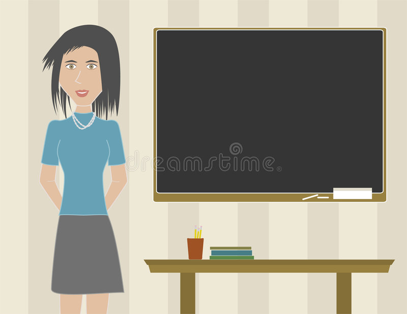 Woman Teacher In A Classroom Royalty Free Stock Image