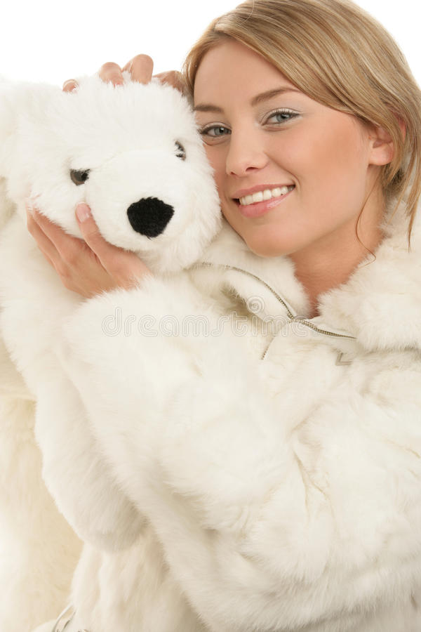 Download Woman with teddy bear stock photo. Image of caucasian - 12177810