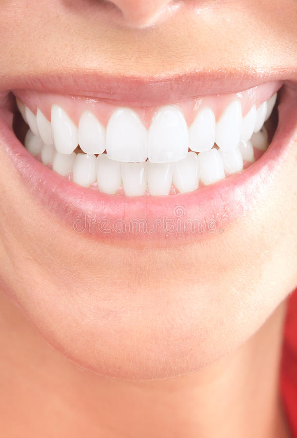 Woman teeth stock photo