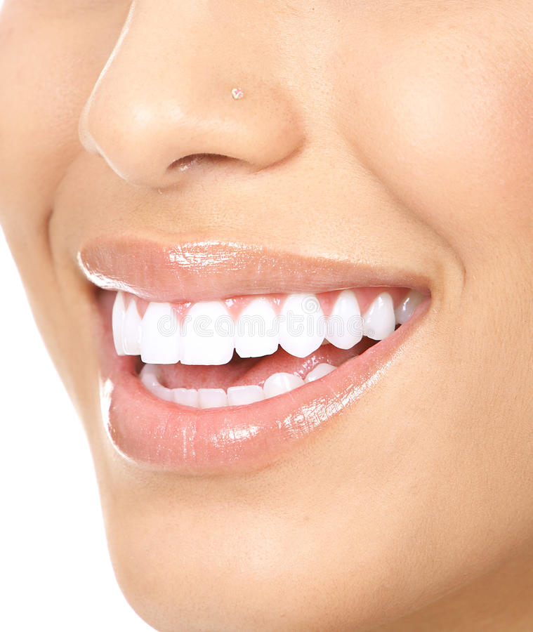 Woman teeth stock photos