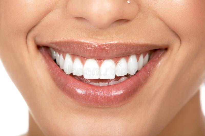 Woman teeth royalty free stock photos