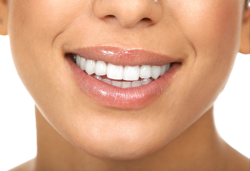 Woman teeth royalty free stock images