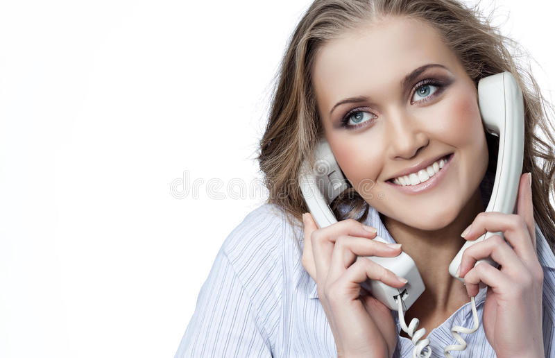 Download Woman with telephone stock photo. Image of businesswoman - 13160290