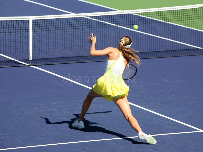 Woman tennis royalty free stock photos