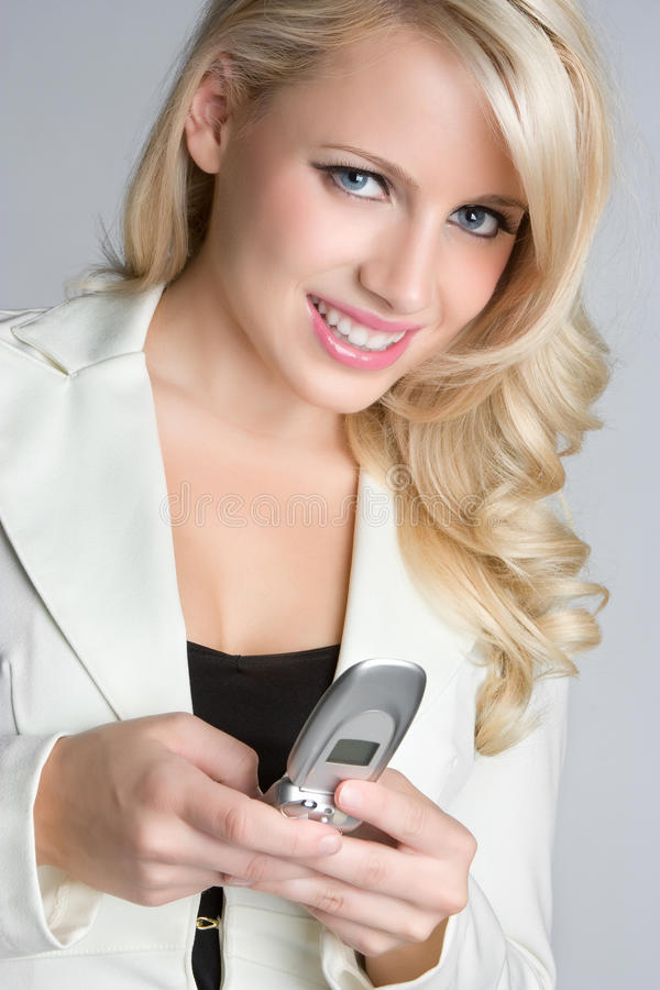 Download Woman Texting stock image. Image of background, blond - 10065493
