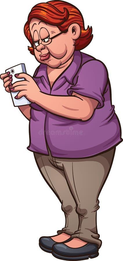 Woman texting vector illustration