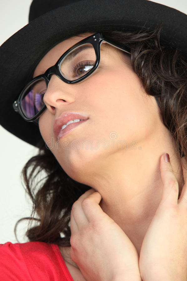 Download Woman In Thick Rimmed Glasses Stock Photo - Image: 23350568