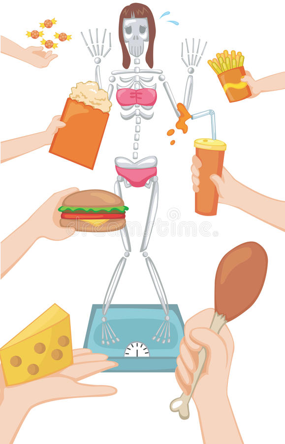 Download A Woman Always Think She Is Fat Stock Vector - Illustration of bones, grease: 33204703