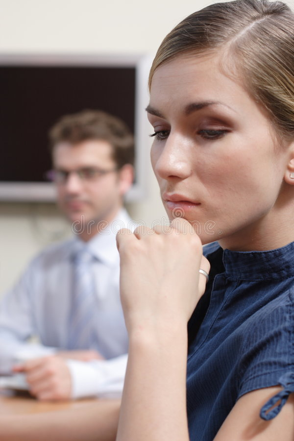 Woman in thought royalty free stock image