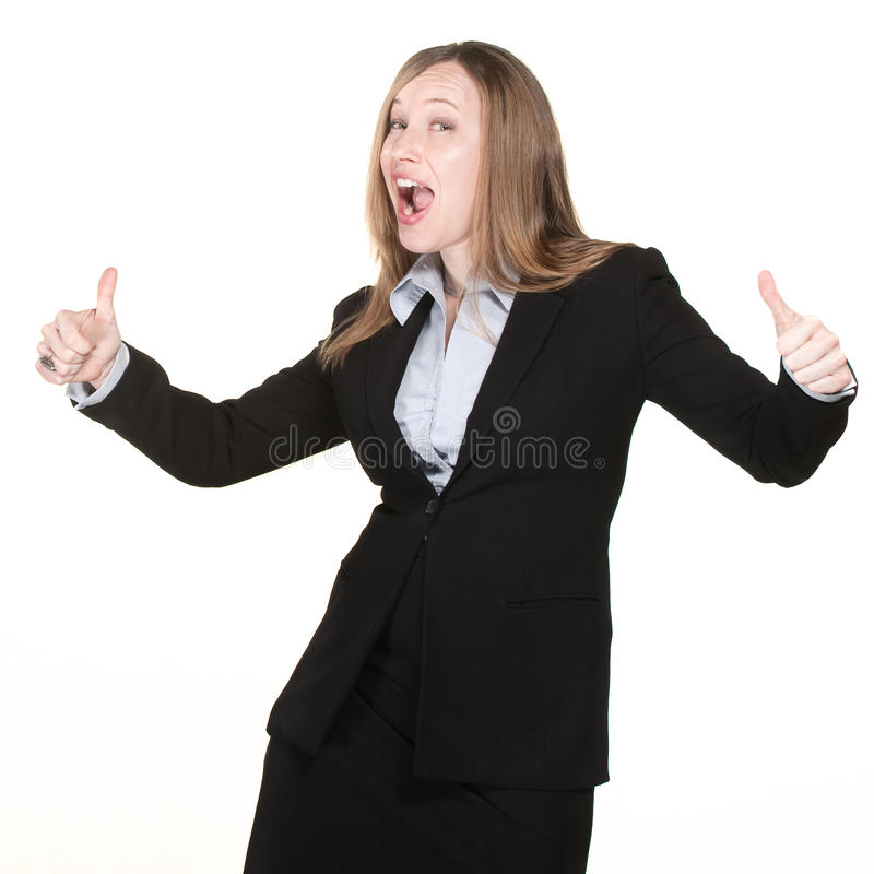 Download Woman With Thumbs Up stock image. Image of people, female - 24666481