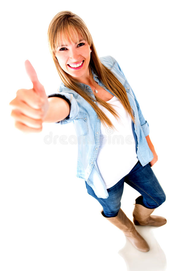 Download Woman with thumbs up stock photo. Image of girl, like - 25837484