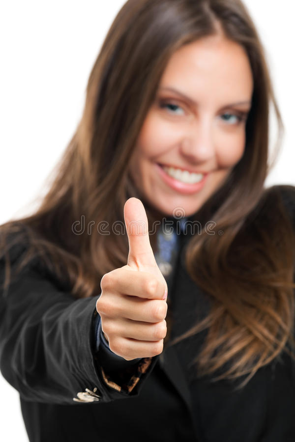 Download Woman thumbs up stock photo. Image of positive, business - 26612512
