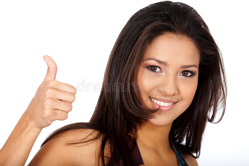 Download Woman - thumbs up stock photo. Image of faultless, positive - 4624526